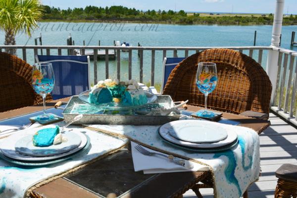 Bahama Beach Bundt Cake table