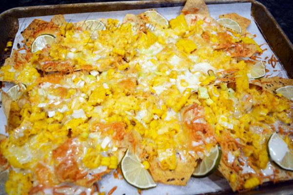 corn queso nachos