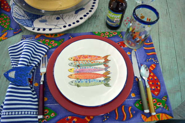 fish place setting