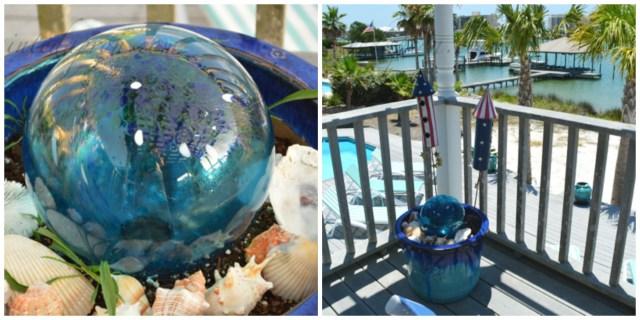 gazing ball pot