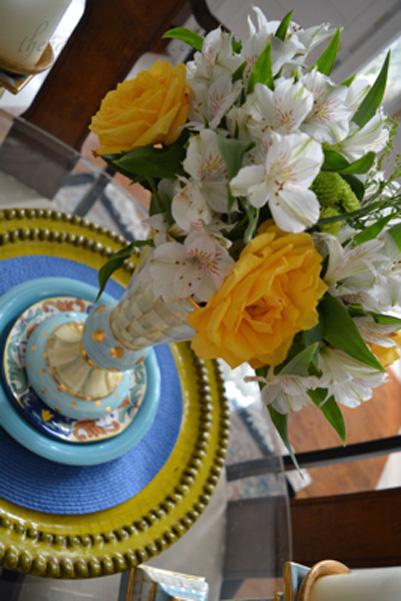 roses and alstromeria