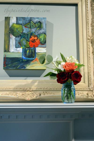art in bloom mantel