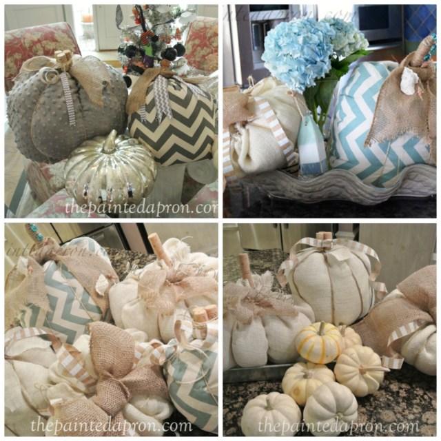 fabric pumpkin collage