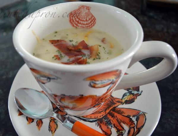 September Corn & Squash Soup thepaintedapron.com