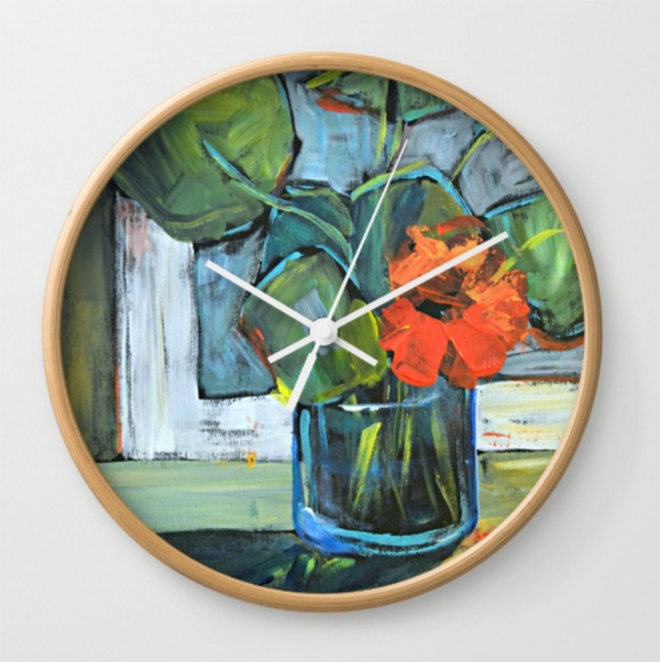 bloom-in-blue-vase-clock