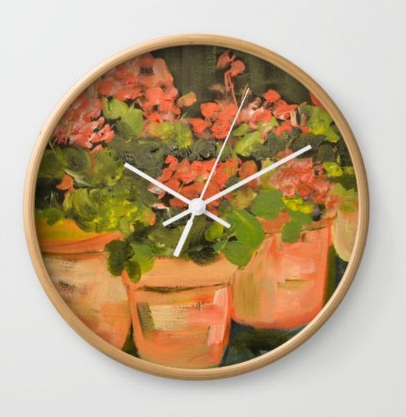 geranium-clock