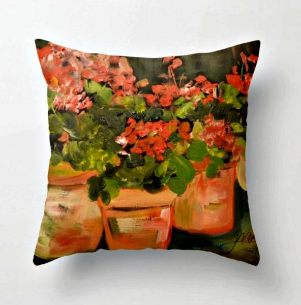 geranium-pillow