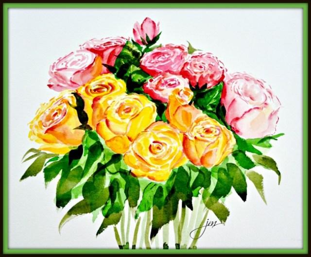 Mother's Day Roses framed