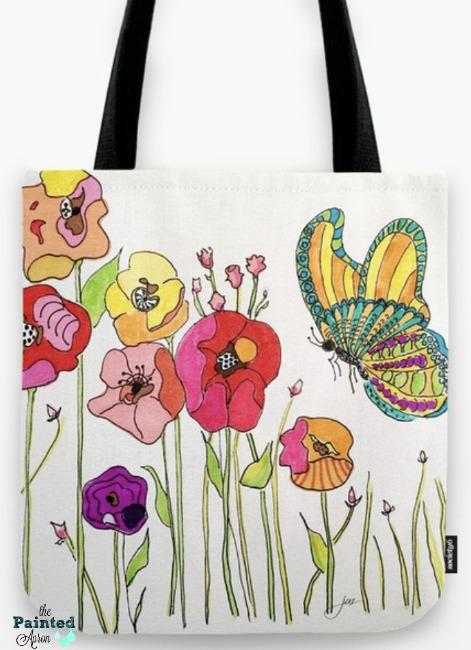 butterfly garden tote