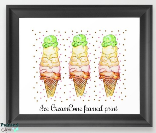 ice cream cone print