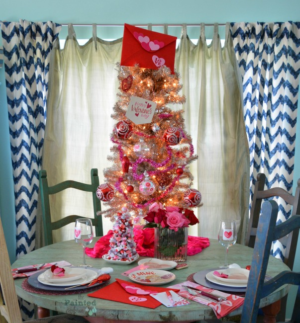 Love letter tree and table