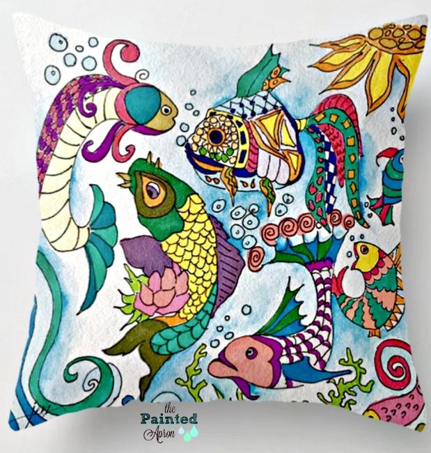 sea life pillow