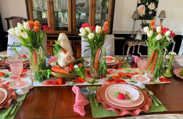 tulip and carrot vases