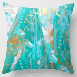 Liquid Gold pillow society6.com/paintedapron