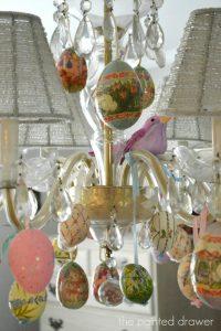 Spring Decor - Easter Egg Chandelier -