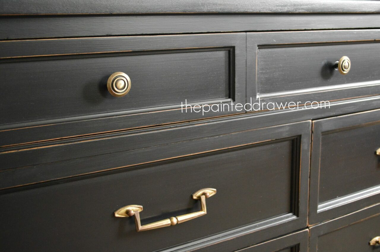 Paint Color Highlight  General Finishes Lamp Black Milk