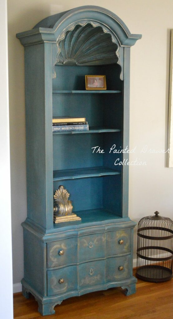 The French Drexel Shell Cabinet Before and After