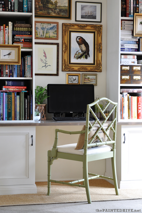 Eclectic Budget Home Office | The Painted Hive