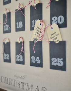 Christmas advent calendar wall chart with free printable pockets  tags the also full tutorial rh thepaintedhive