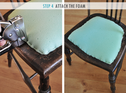 reupholstering a chair red desk chairs how to upholster attached seat pad method the painted hive