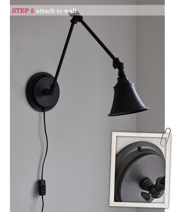 Wall Mountable Desk Lamp A Desk Lamp Becomes A Wall Light | The Painted Hive