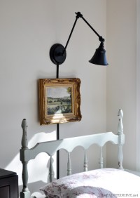 A Desk Lamp Becomes a Wall Light | The Painted Hive