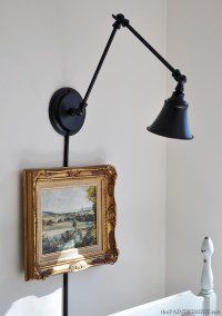 A Desk Lamp Becomes a Wall Light