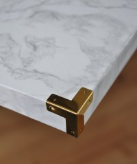 Easy DIY Marble Hearthand a fireplace makeover