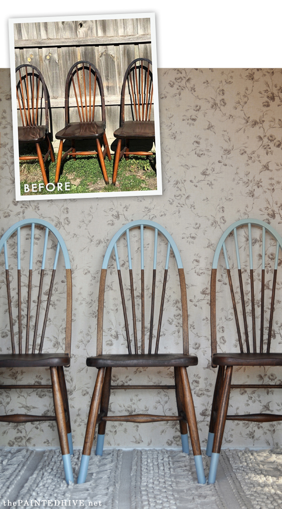 diy painted windsor chairs white gaming chair argos how to make hat sock seats aka paint dipped the