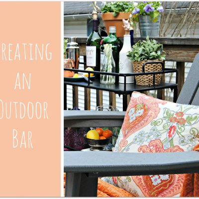 Creating an Outdoor bar.