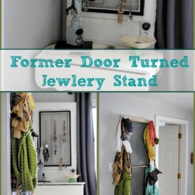Vintage Door Turned Jewelry Stand