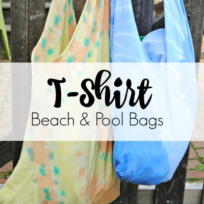 How to Make T-Shirt Pool/Beach Bags & a Giveaway!