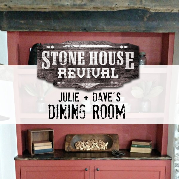 Stone House Revival Rustic Dining Room and Exterior Facade