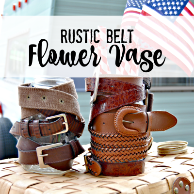 Rustic Belt Flower Vase