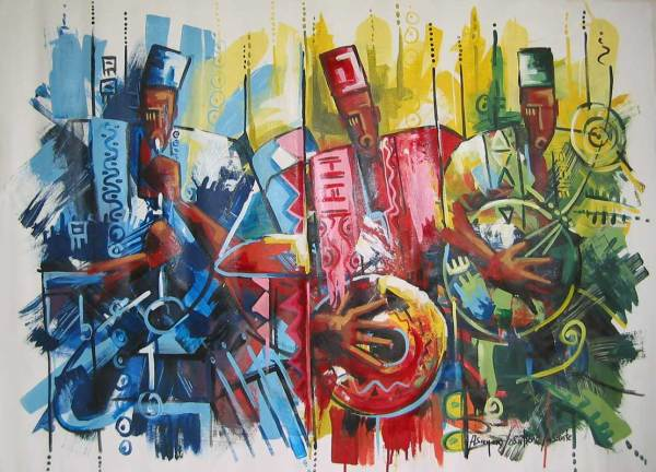 African Music Art Paintings