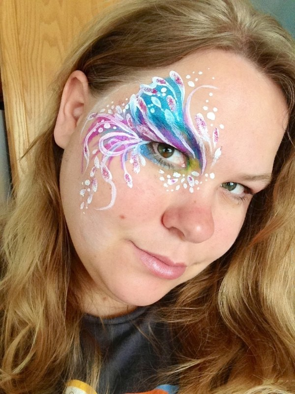 Fairy Face Paint Painted Otter