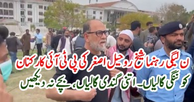PML-N leader Sheikh Rohail Asghar's insults to PTI workers