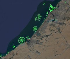 New islands off the coast of Dubai.