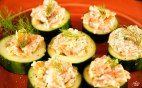 Paleo Diet Recipes Smoked Salmon Salad on Cucumber Slices