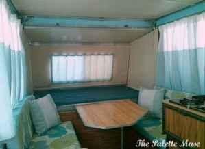 Interior remodel of vintage apache camper