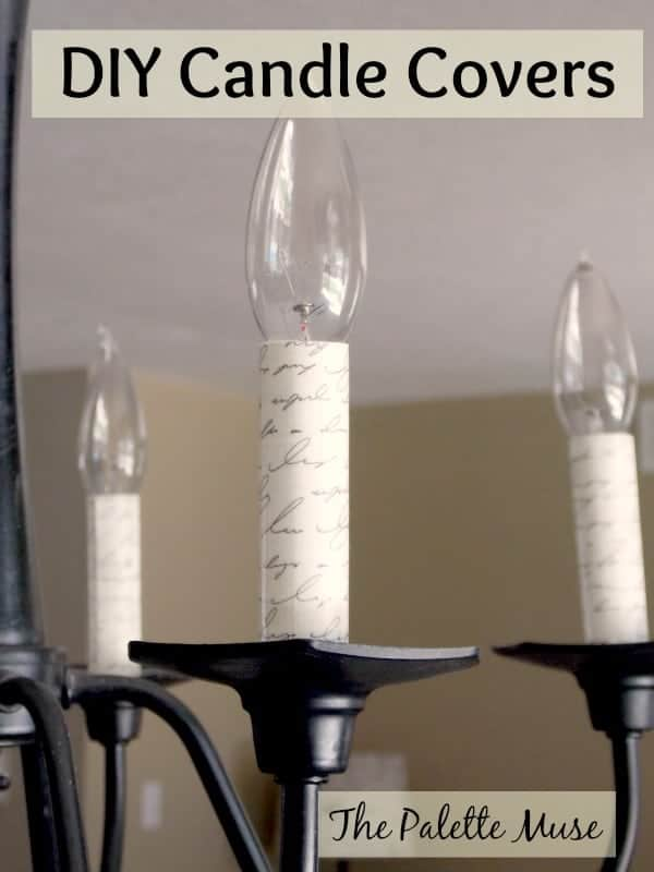 Custom Chandelier Candle Covers The Palette Muse