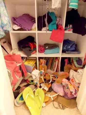 Doesn't cleaning your room mean you stuff everything in your closet?