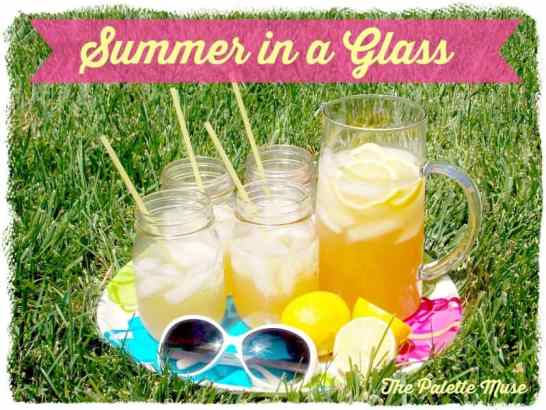 Summer in a Glass Lemon Iced Green Tea