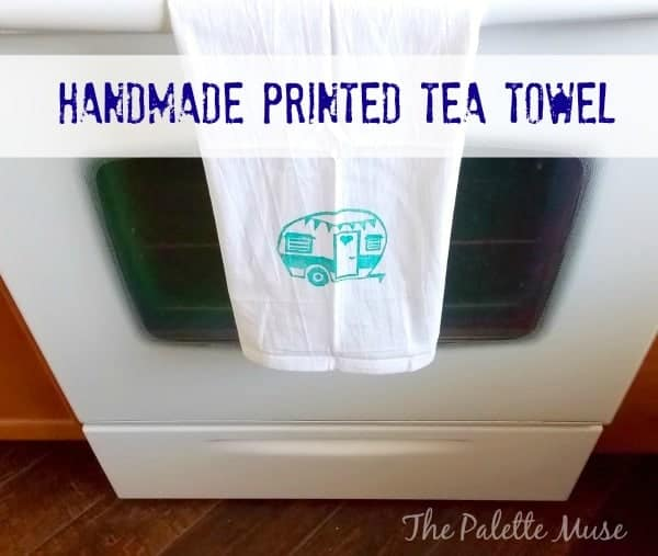 Handprinted Tea Towel - The Palette Muse