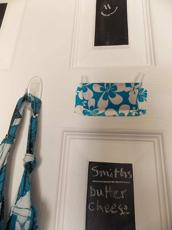 Make a cute chalk holder from duck tape.
