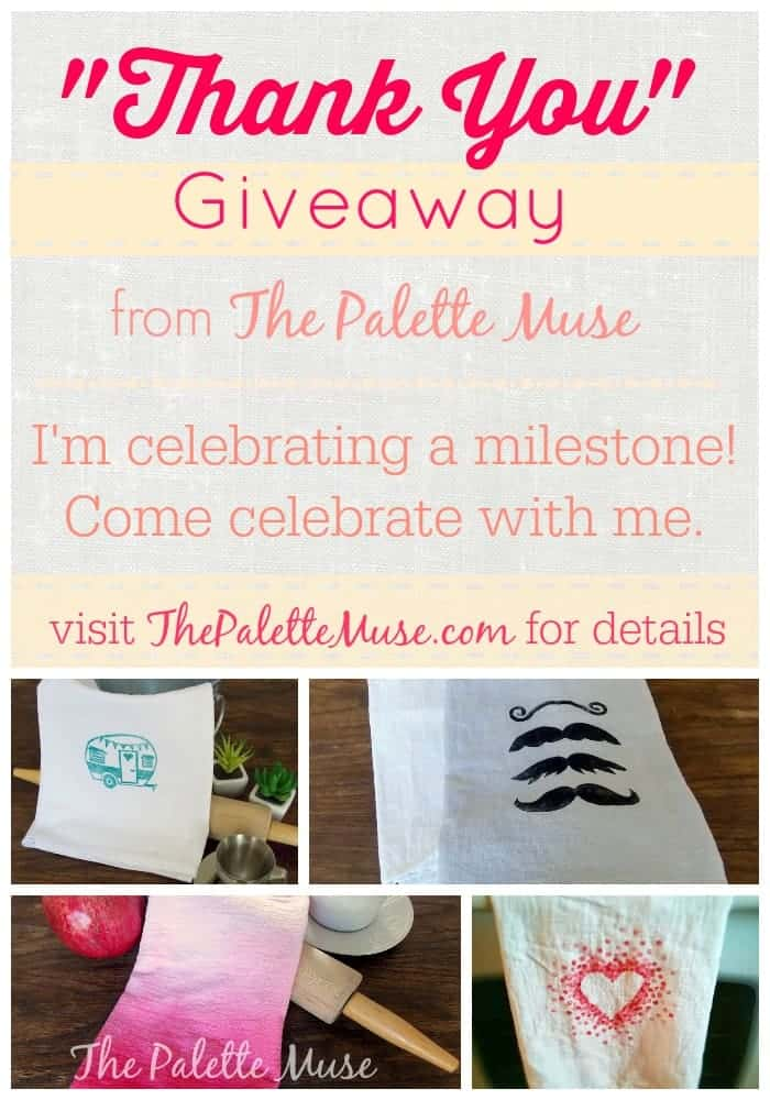 Enter to win a free hand printed tea towel! 2/18/15 thru 2/26/15
