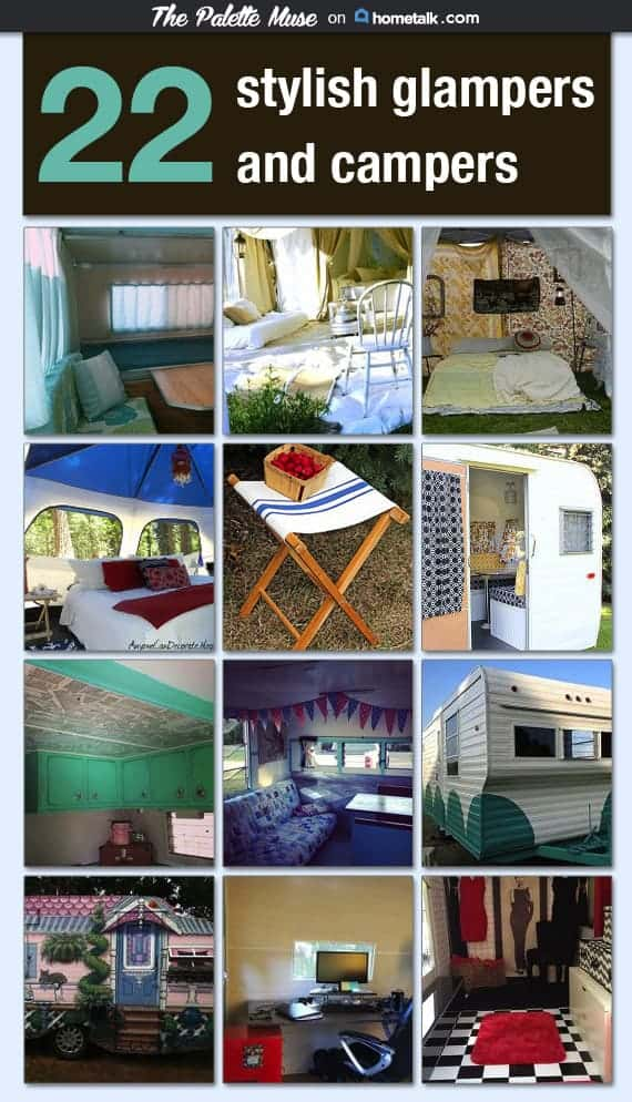 Vintage Campers and Glampers by The Palette Muse
