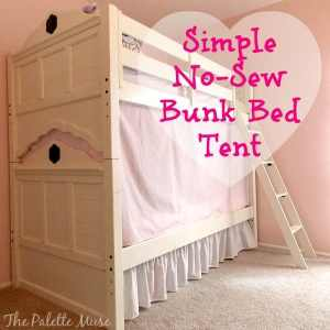 Simple No-Sew Bunk Bed Tent