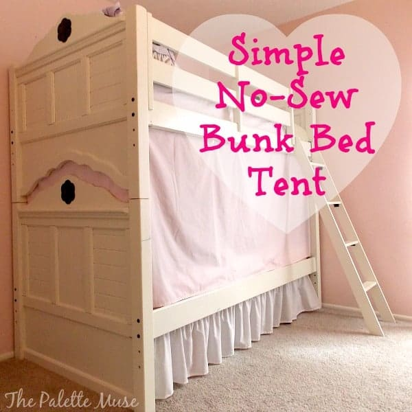 The secret to creating a bunk bed tent & Simple No-Sew Bunk Bed Tent - The Palette Muse