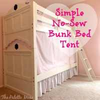 Simple No-Sew Bunk Bed Tent - The Palette Muse